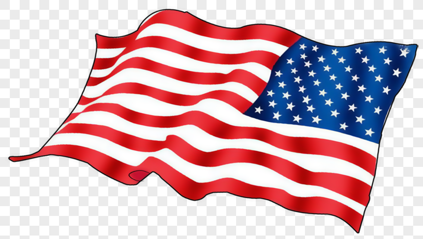 Hand painted american flag png image_picture free download