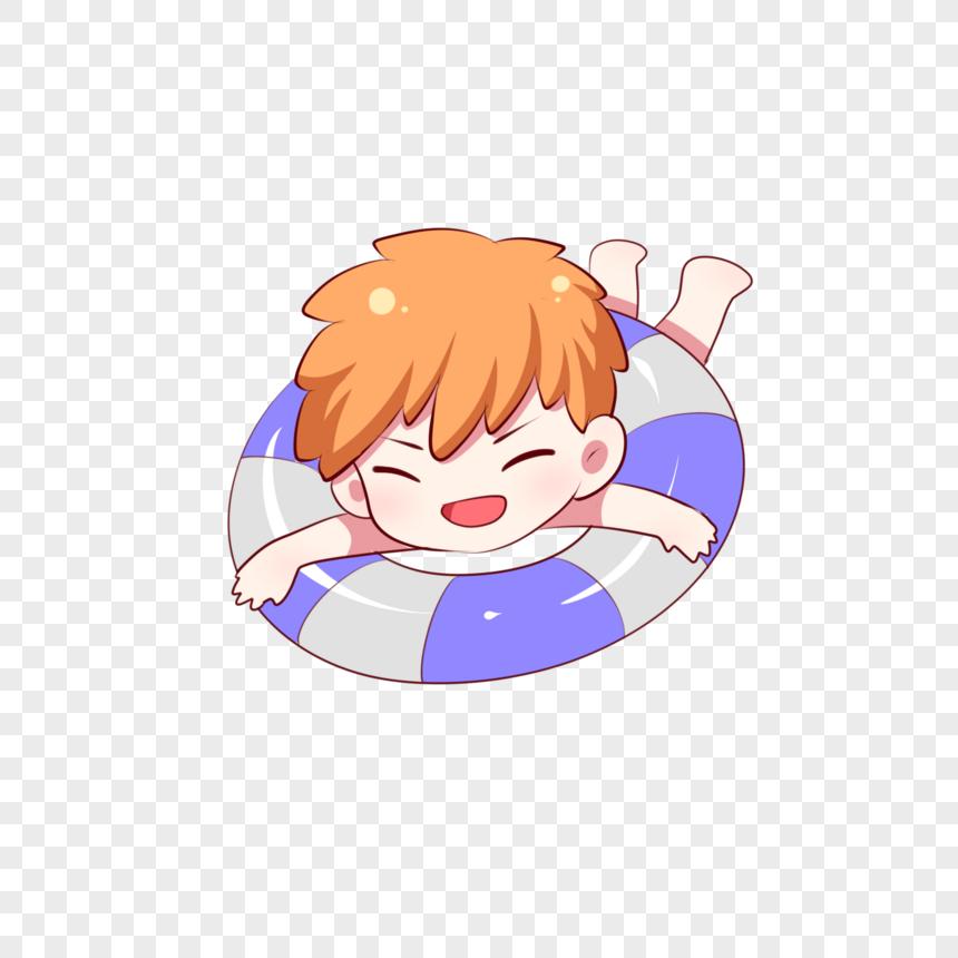 Anak Sulung Berenang Kartun Berenang Musim Panas Gambar