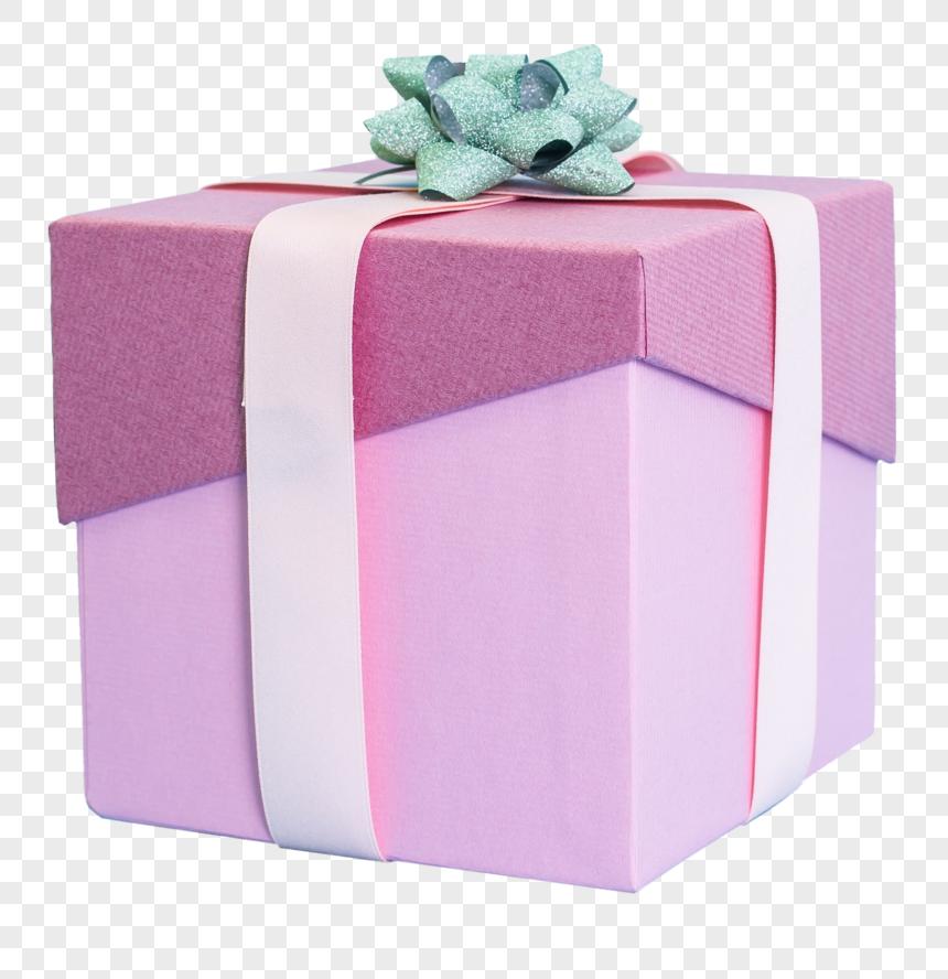 caixa de presente quadrada real do produto png