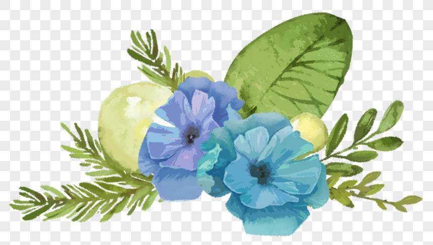 Bunga Biru Png Grafik Gambar Unduh Gratis Lovepik