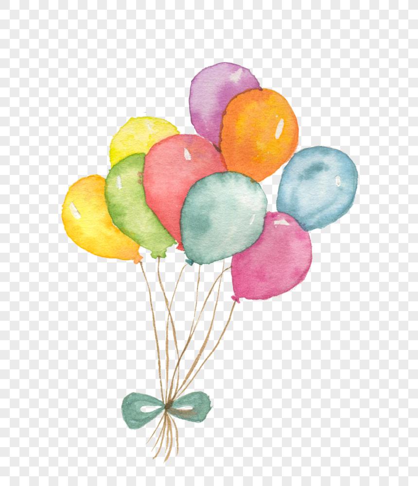 watercolor balloon png