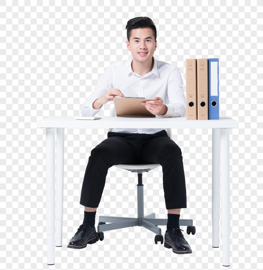 Gambar Orang Orang Bisnis Yang Duduk Di Meja Bekerja Png Grafik Gambar Unduh Gratis Lovepik