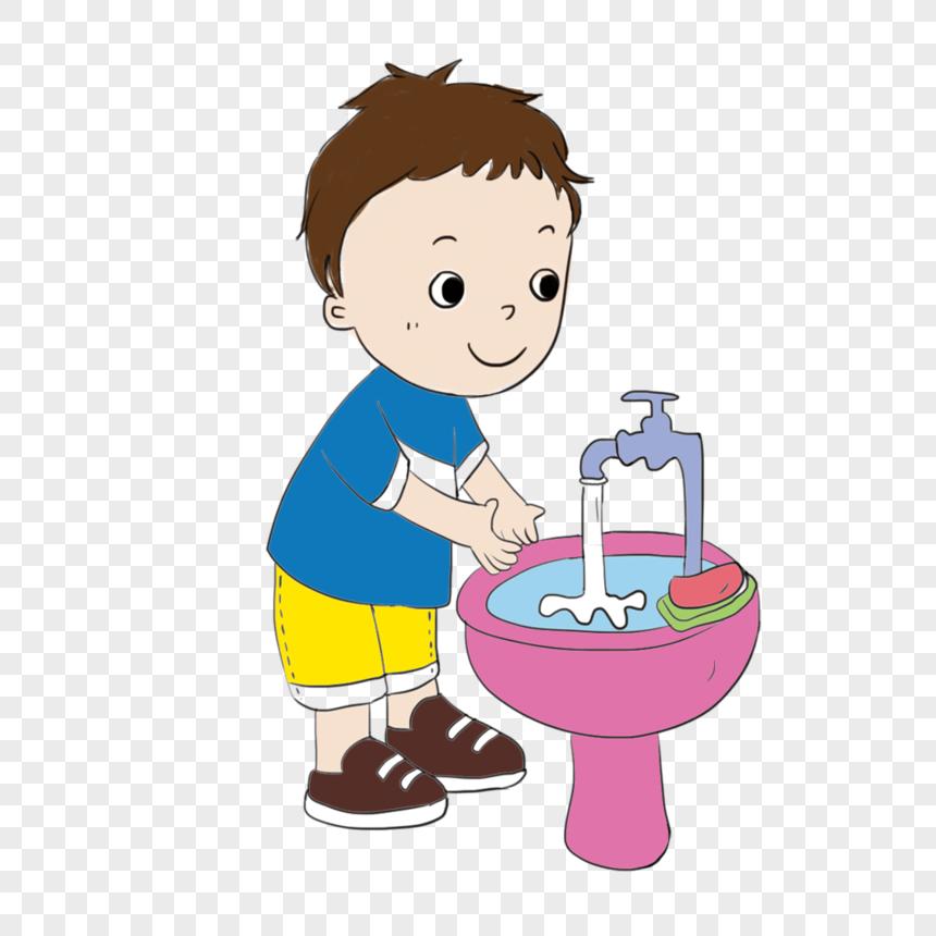 Anak Lelaki Mencuci Tangan Gambar Unduh Gratis Imej