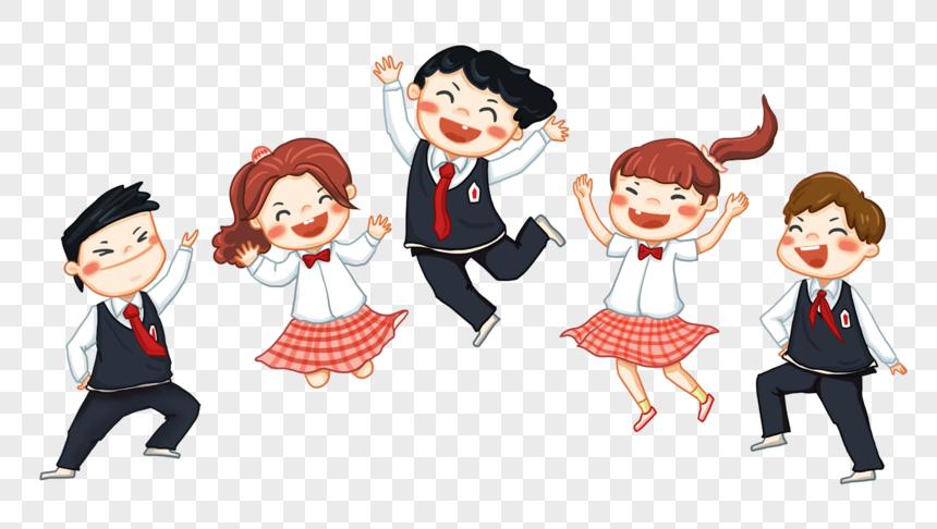 cartoon character students png