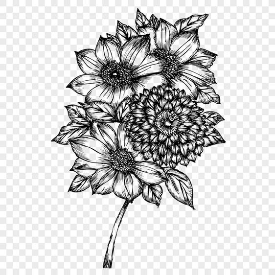 Vektor Tanaman Bunga Sketsa Digambar Tangan Gambar Unduh Gratis