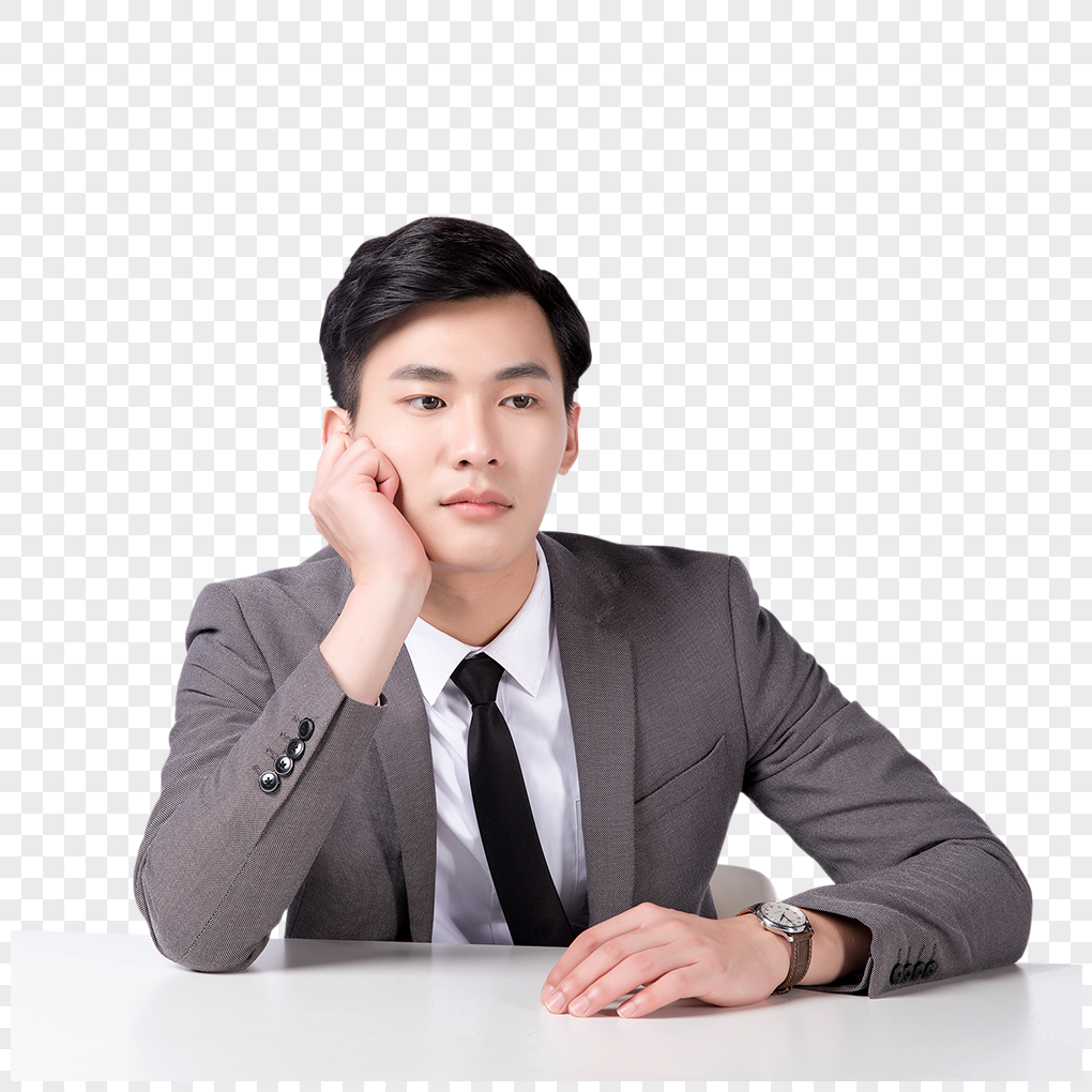 a picture of a business person thinking png image picture free