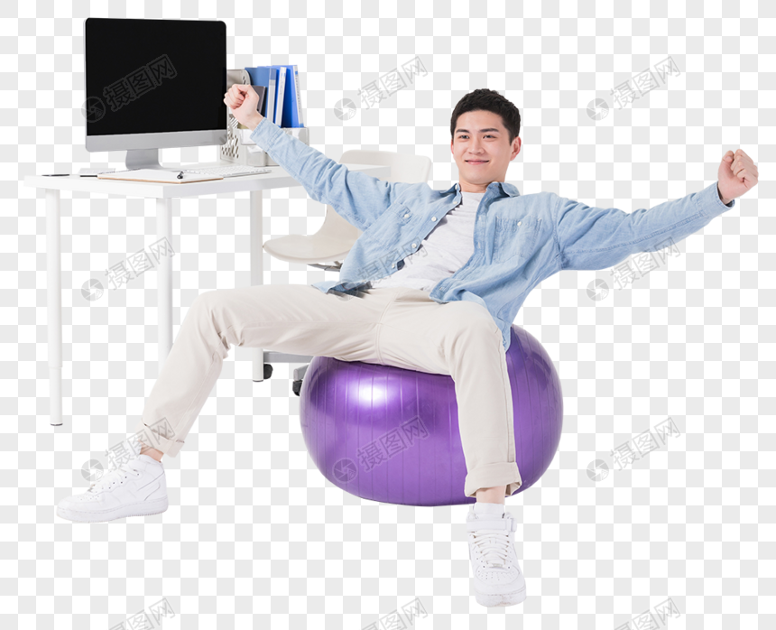 Young Staff Are Sitting On A Yoga Ball Png Image Picture Free Download 400248285 Lovepik Com