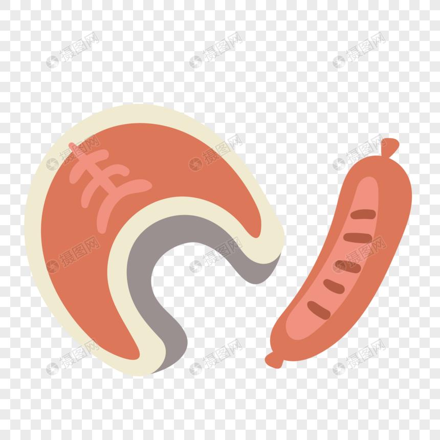 ベクトルバーベキュー野菜の切り身焼きソーセージイラスト要素イメージ