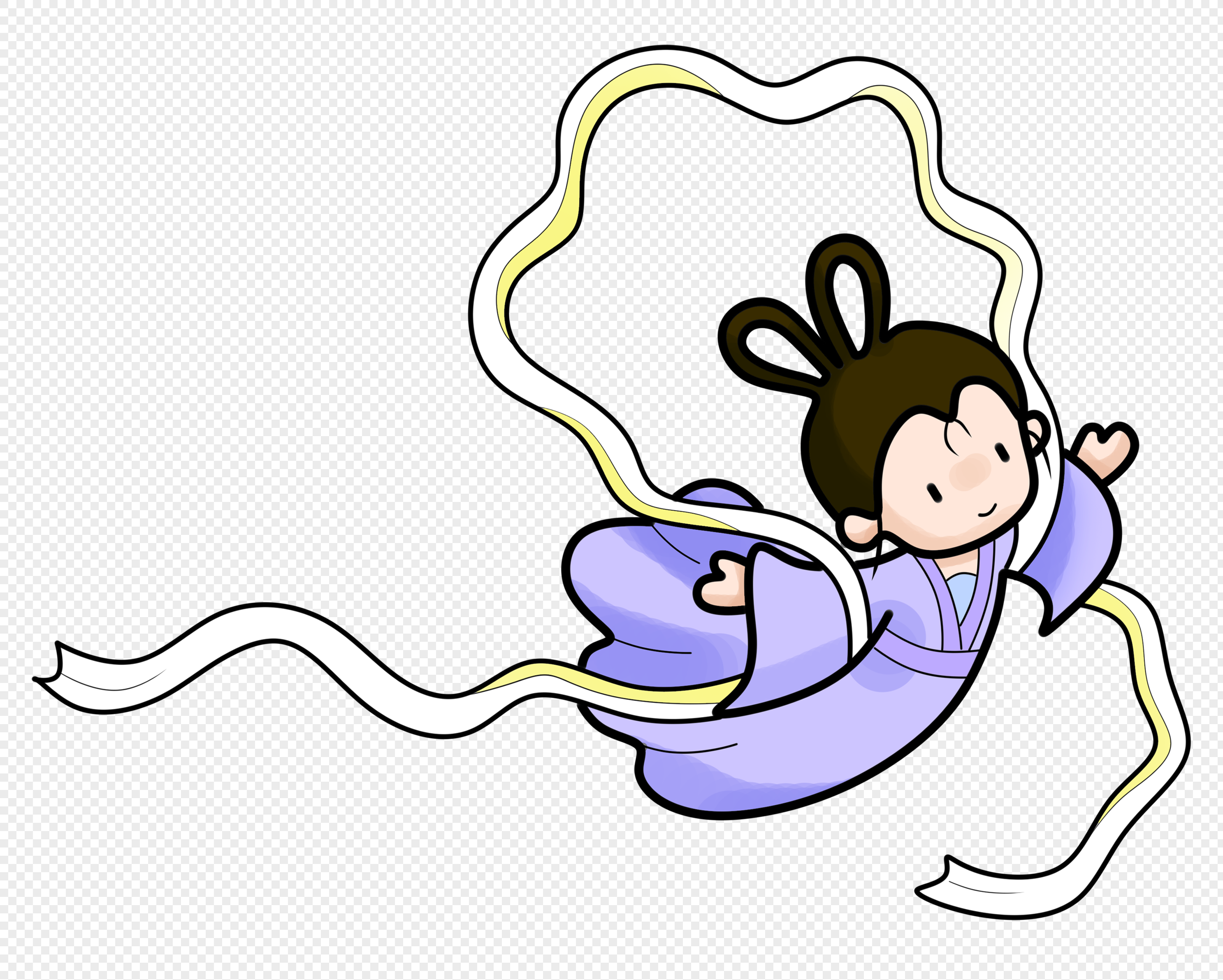 the mid autumn festival cartoon chang e png image picture free