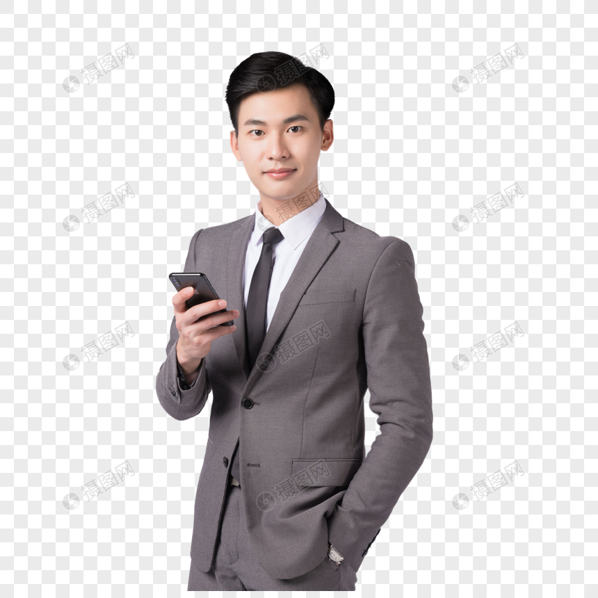 a business man using a mobile phone png