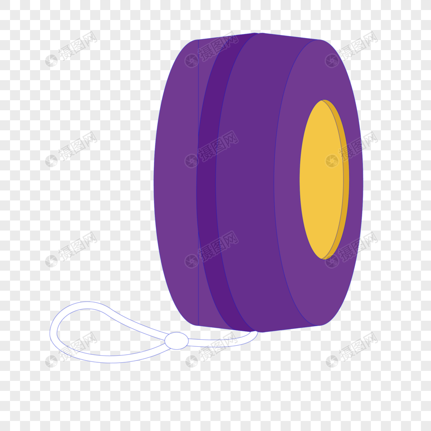 Purple yo yo vectored cartoon png image_picture free