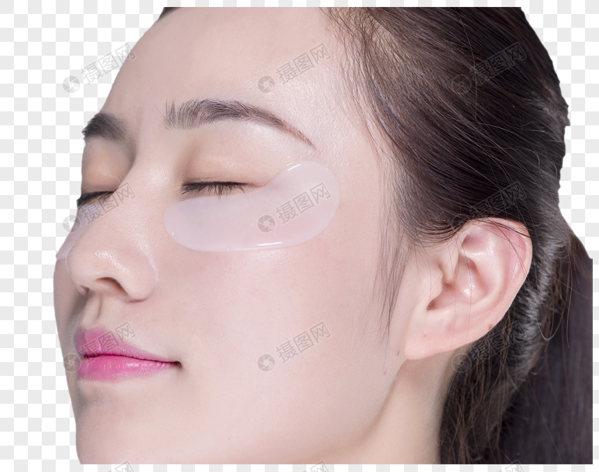 mulher usando máscara olho png