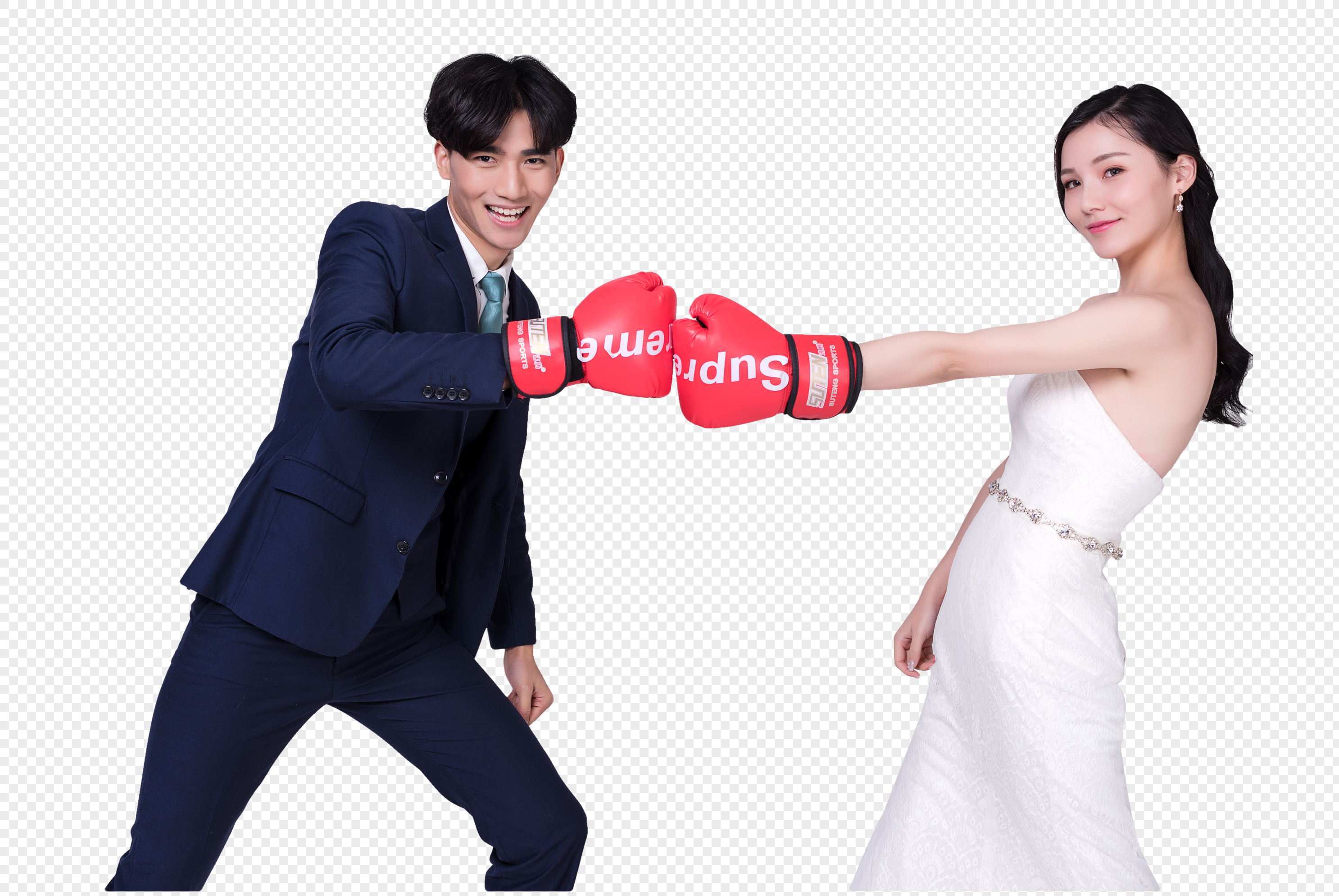 Lovers\' wedding gown boxing gloves png image_picture free download ...