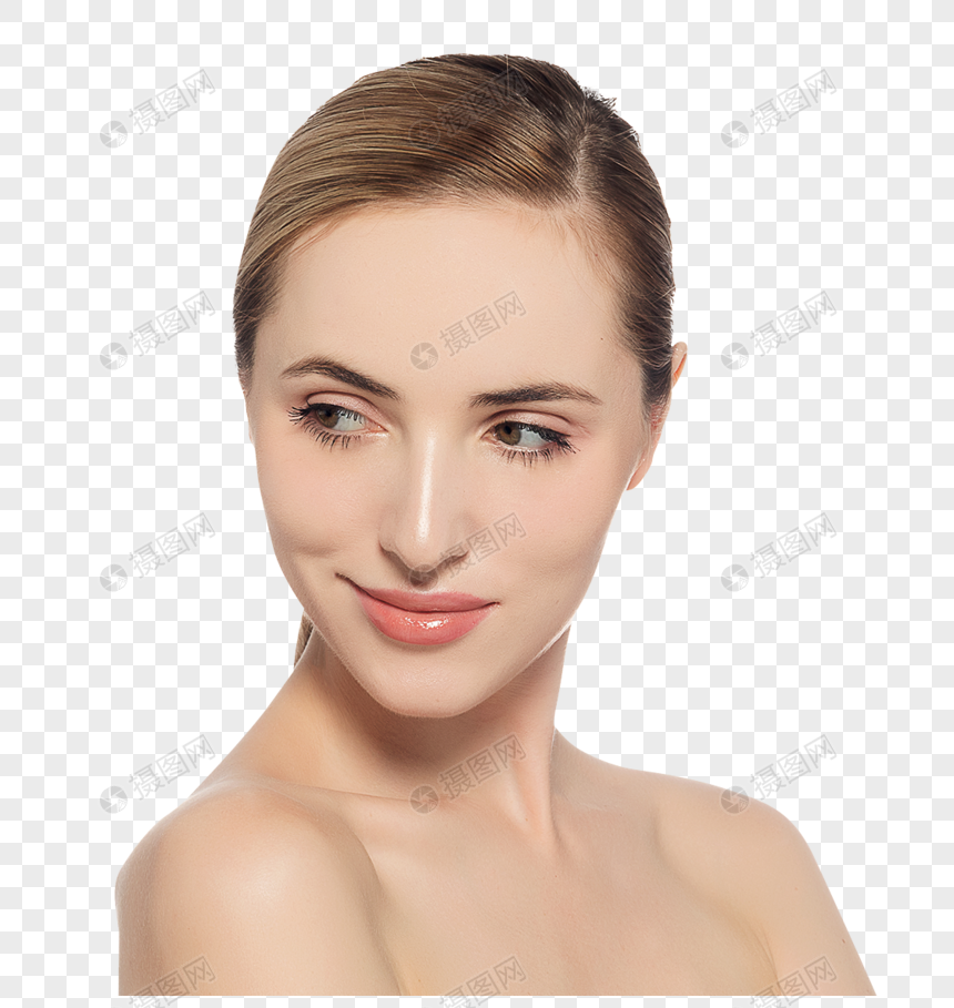 foreign beauty beauty display png