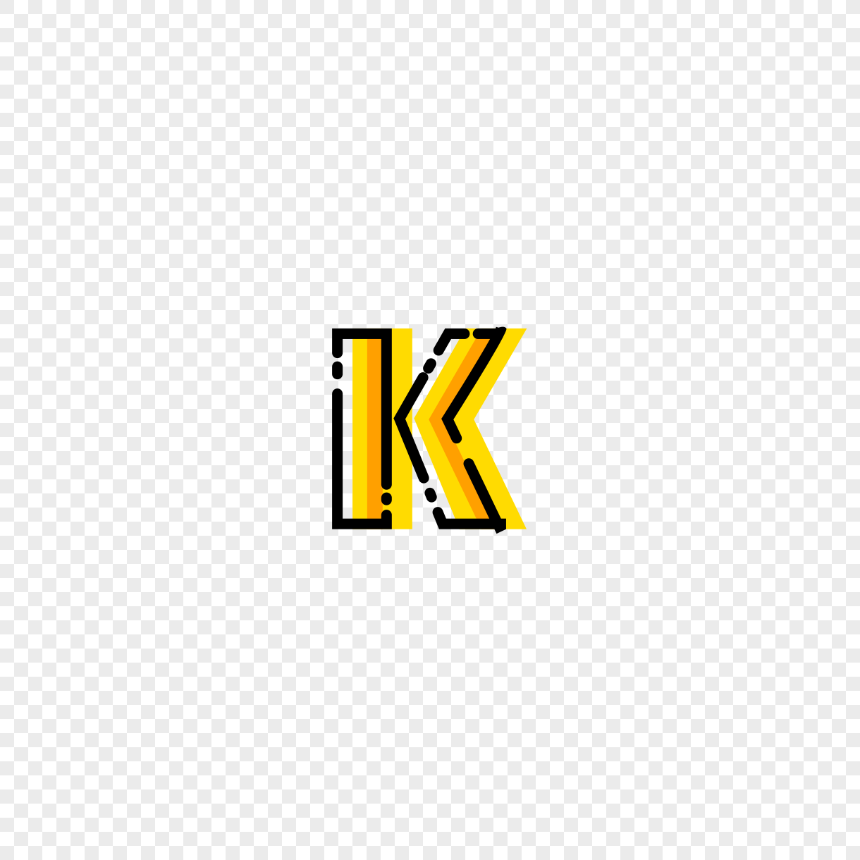 English Letter K Font Design Png Image Picture Free Download