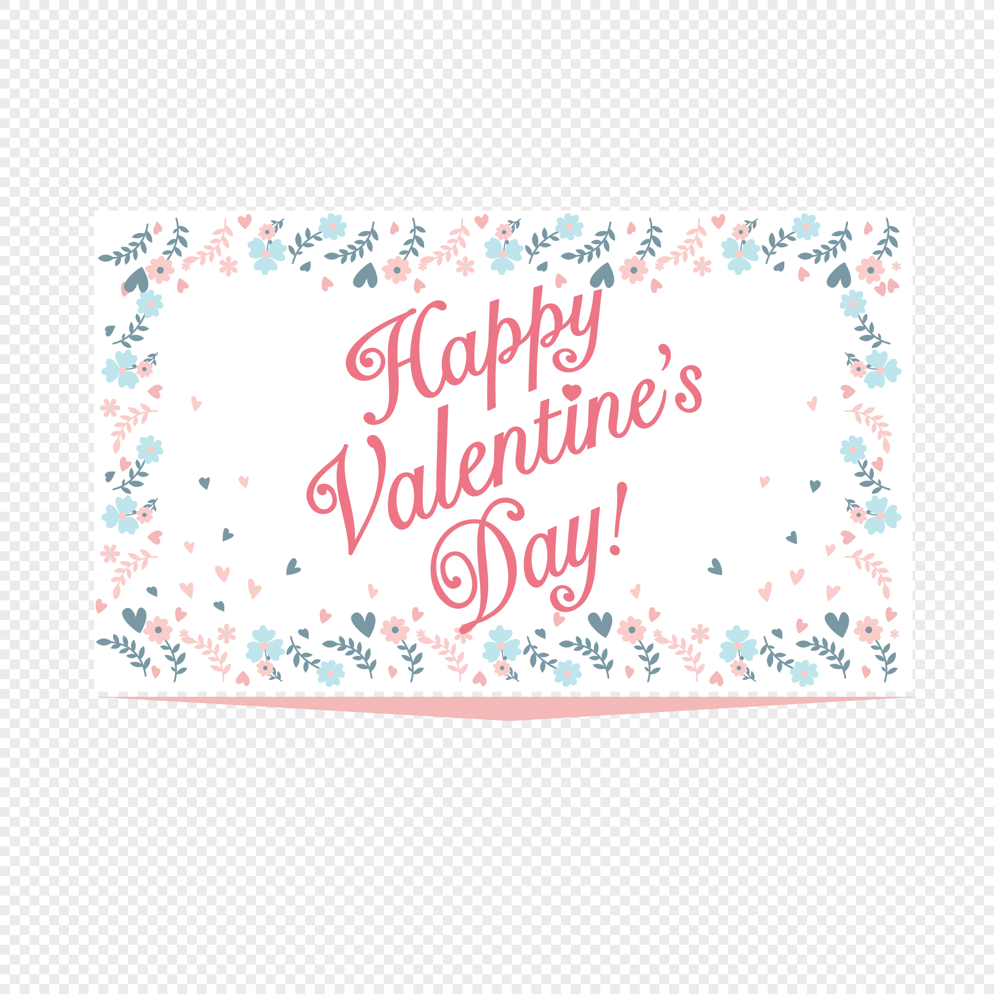 Happy Valentines Day Decorations Png Image Picture Free Download
