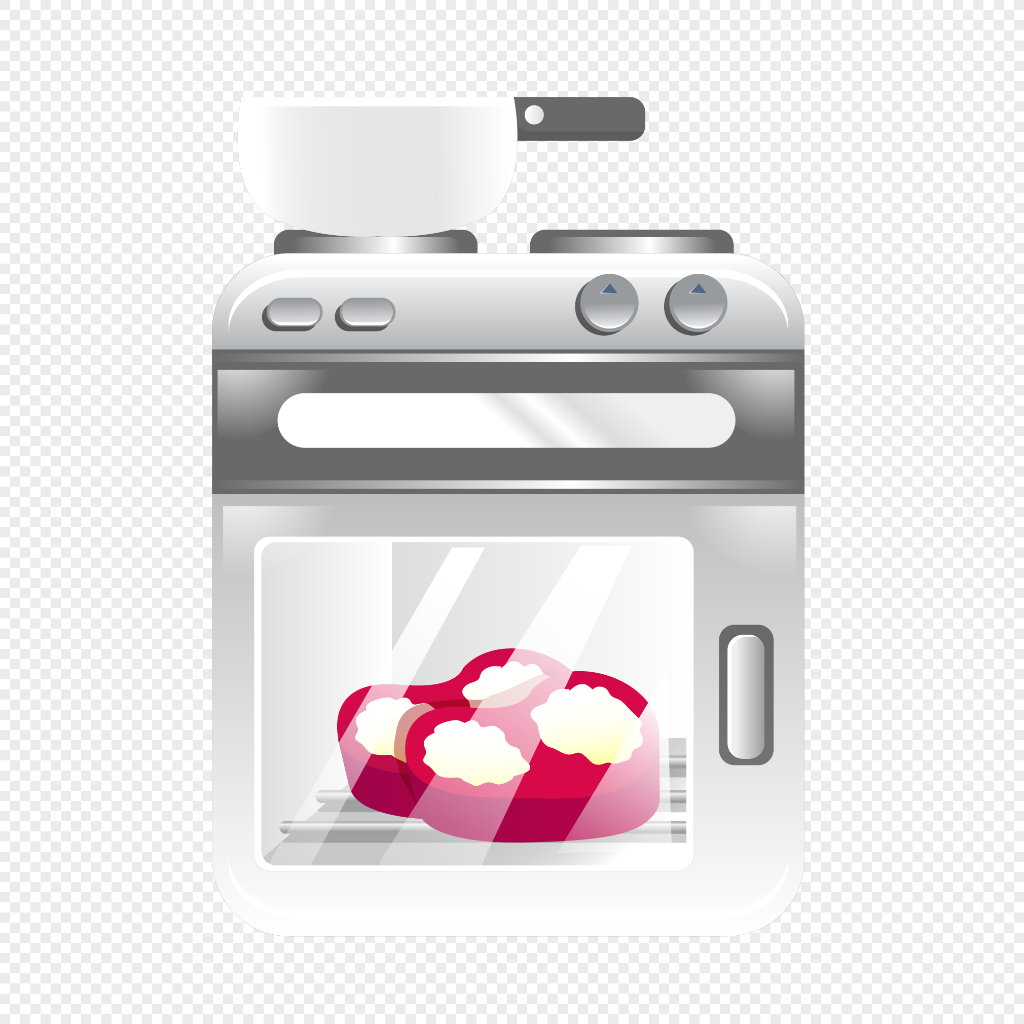 vector design of cartoon oven graphics image picture free download