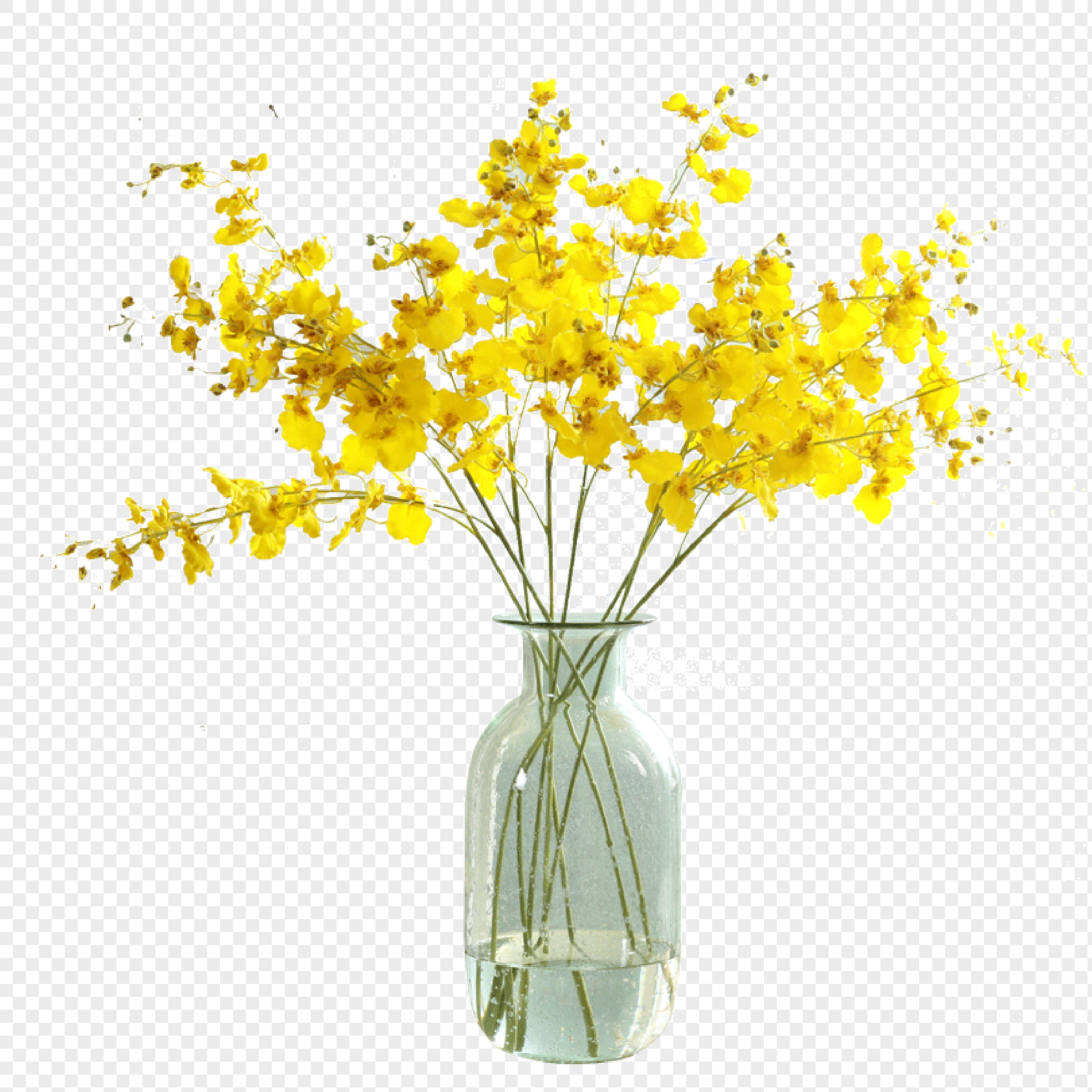 Yellow Dance Orchid Flower Imitation Flower Decoration Flower Png