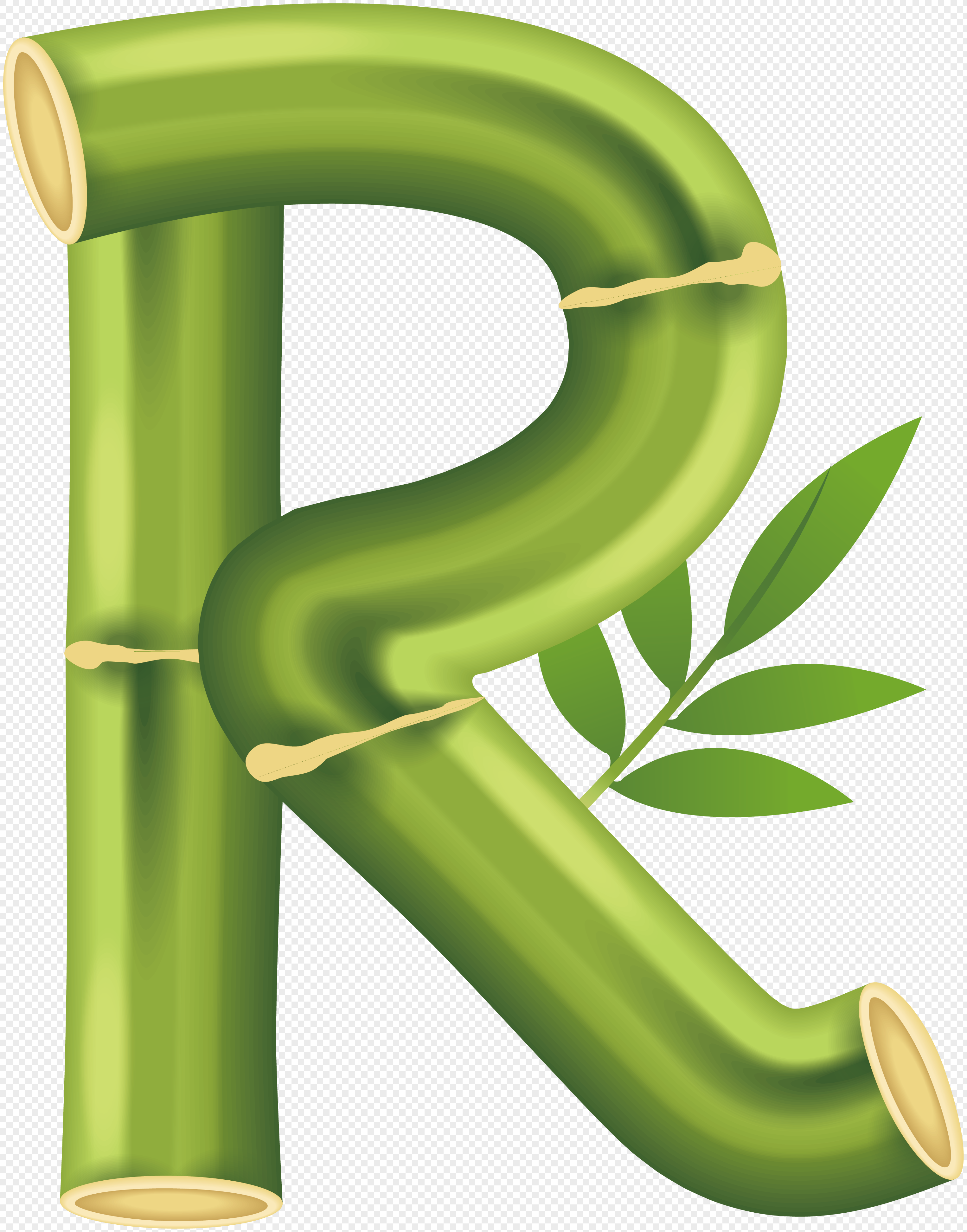 Bamboo Letter R Vector Png Image Picture Free Download
