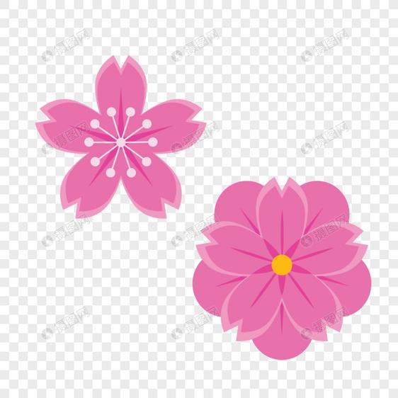 Desenhos Animados Pintados à Mão Rosa Pêssego Primavera Flor De