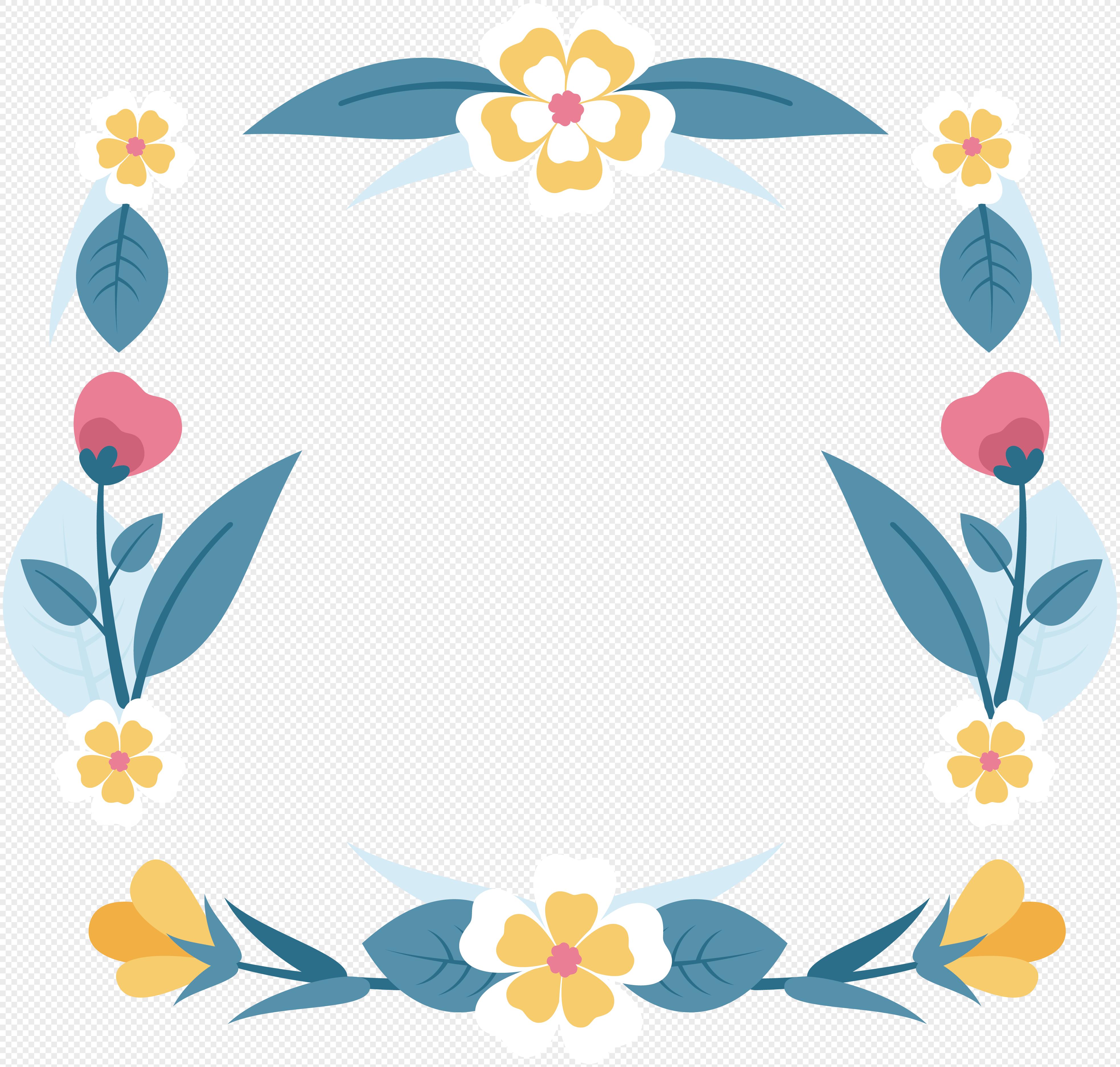 Creative Spring Flower Border Imagepicture 400316243lovepik