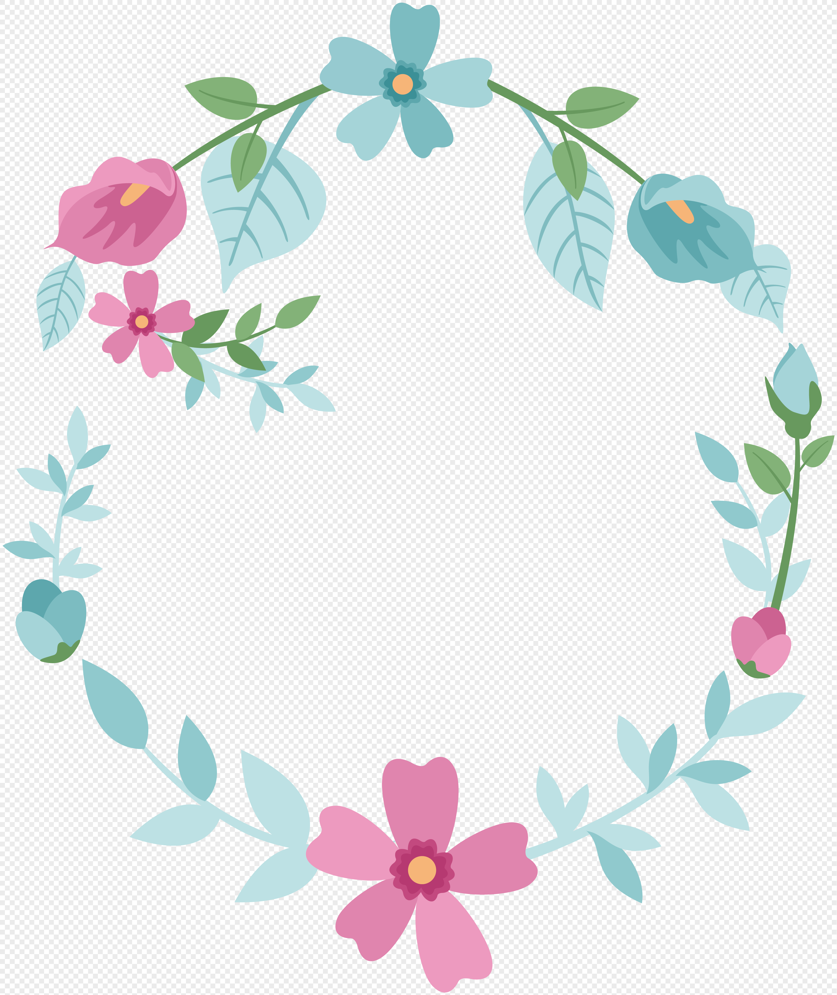 Cartoon Pink Border Material Png Image Picture Free Download
