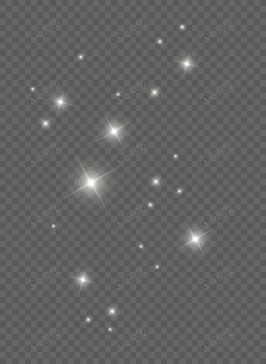 floating stars gray sky png