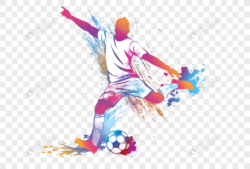 colorful football png