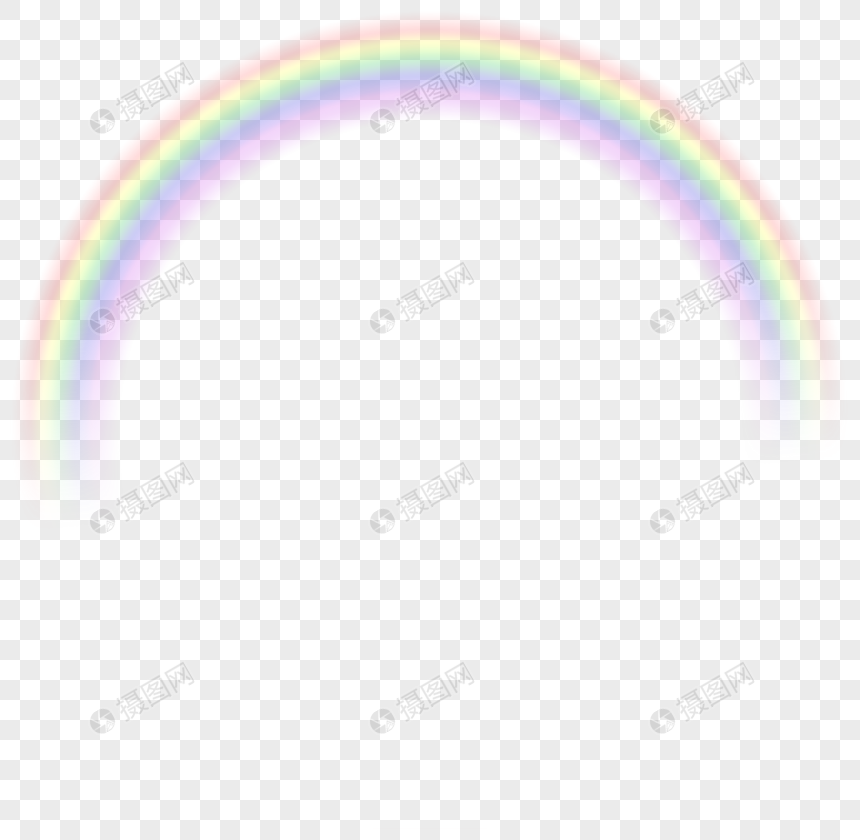 Cartoon Hand Painted Animated Romantic Dream Rainbow Png