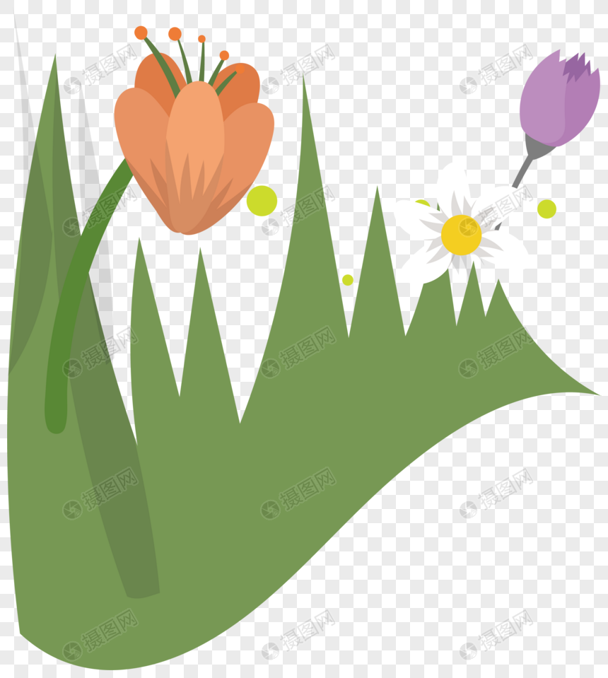 Cartoon Spring Flower Background Material Png Image Picture Free
