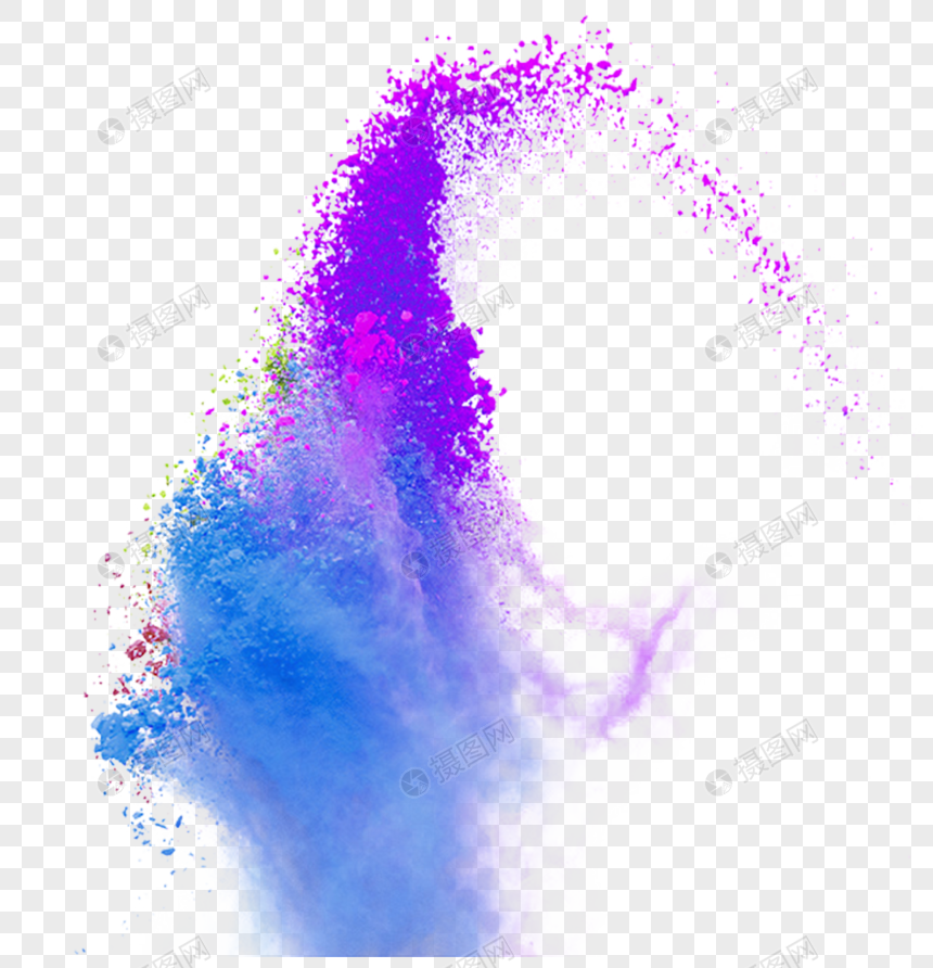 color splash powder smoke png