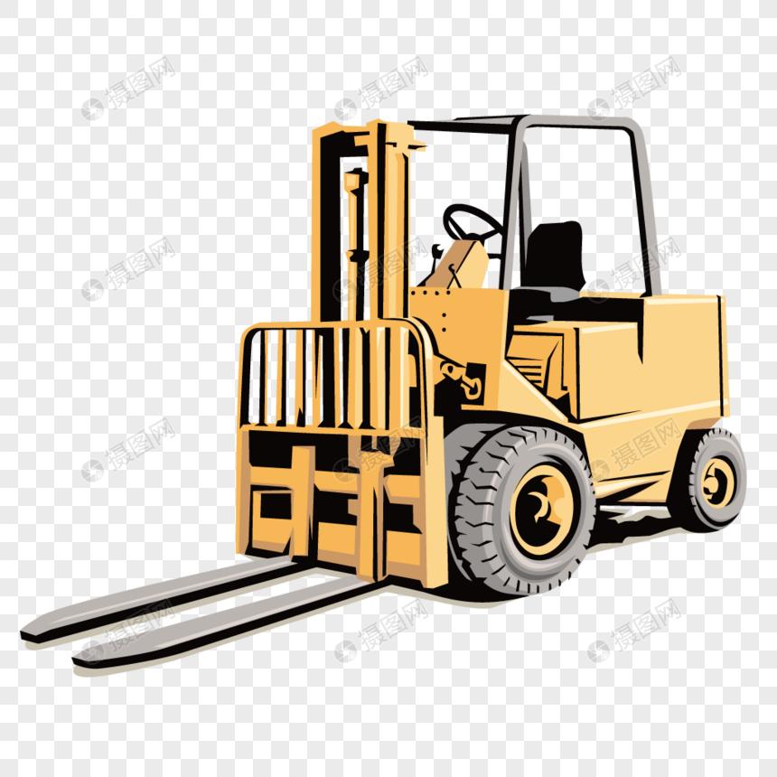 Maquinaria De Construcción Material De Carretilla Elevadora Imagen