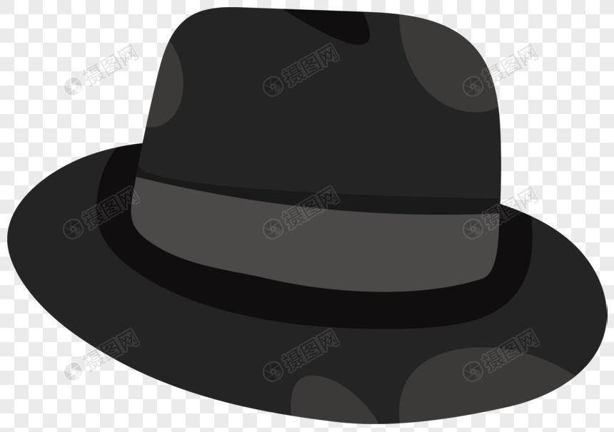 Material De Vectores De Promocion Del Sombrero De Copa Negro Del