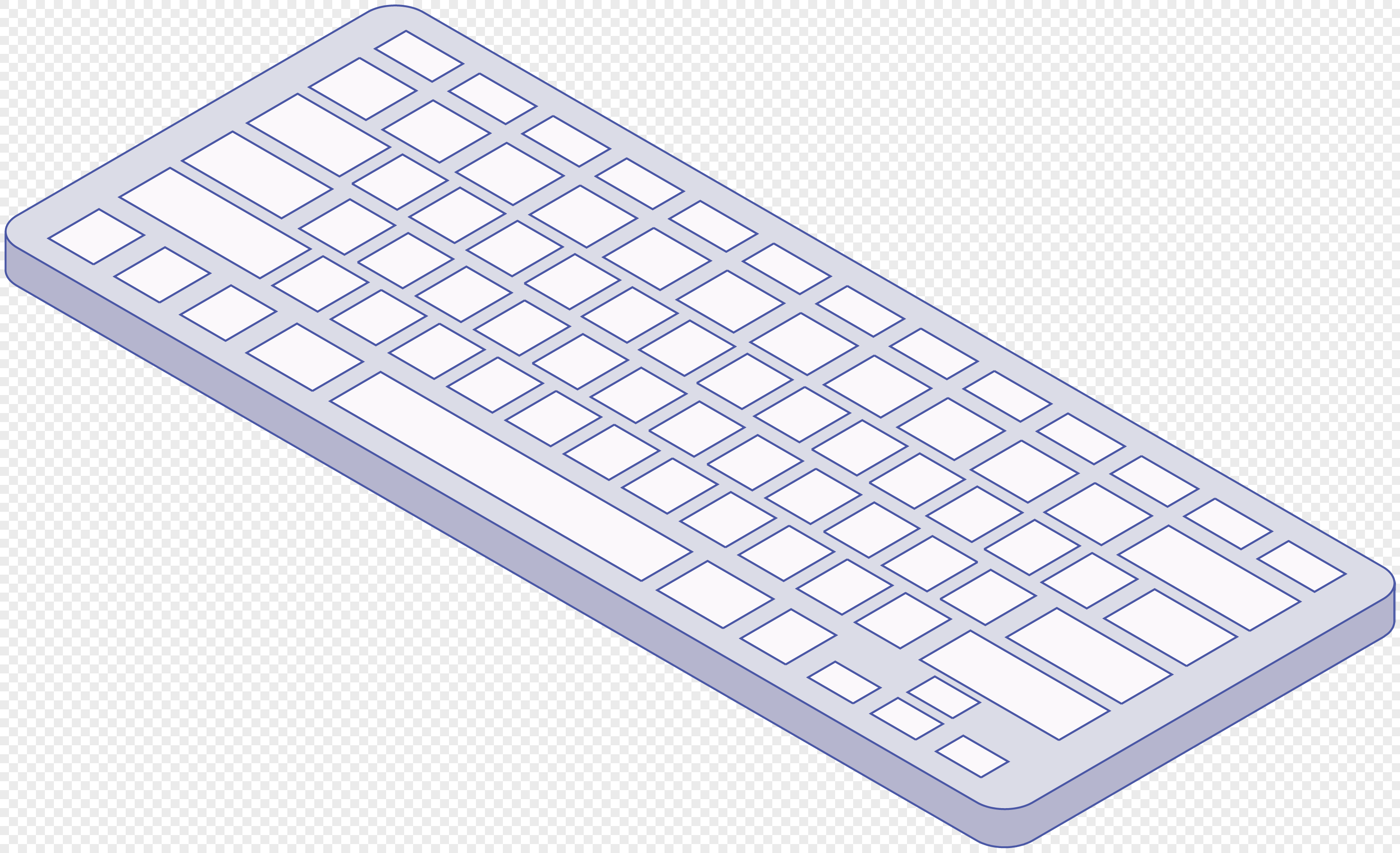 learning office stationery wireless keyboard cartoon vector mate