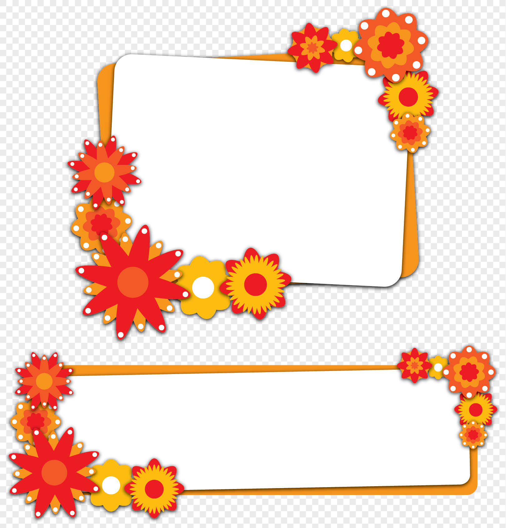 flower border theme box png image picture free download