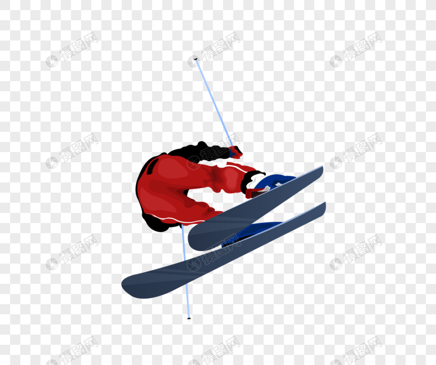 A cartoon skiing figure png image_picture free download