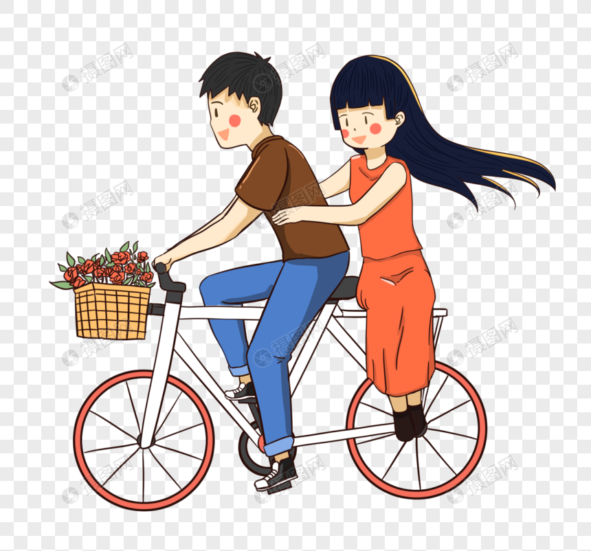 boys and girls ride a bike png