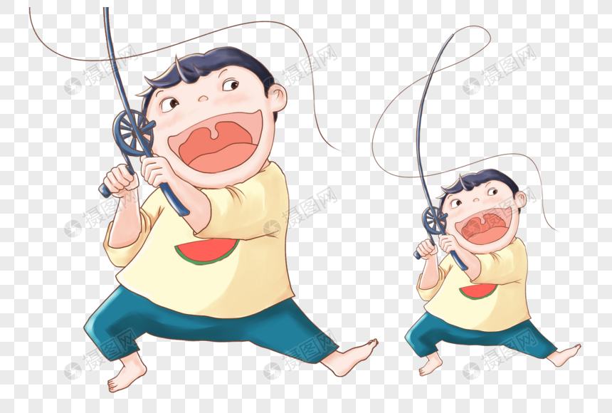 A Child With A Fishing Rod Png Image Picture Free Download 400348434 Lovepik Com