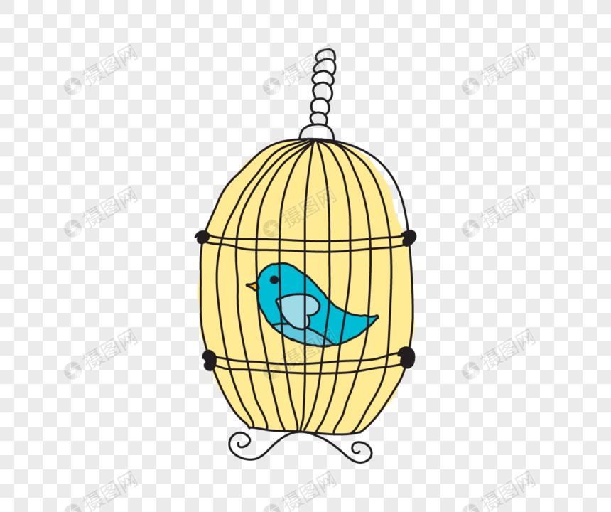 Material De La Jaula De Pájaros De Dibujos Animados De Vector Imagen