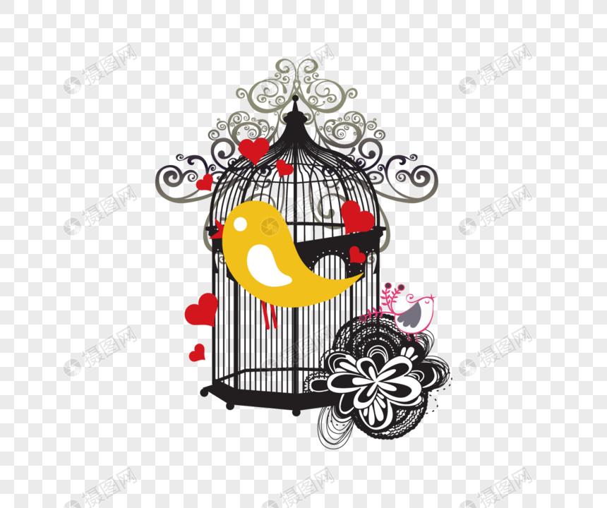 Vector De Dibujos Animados Jaula De Pájaros Imagen Descargarprf