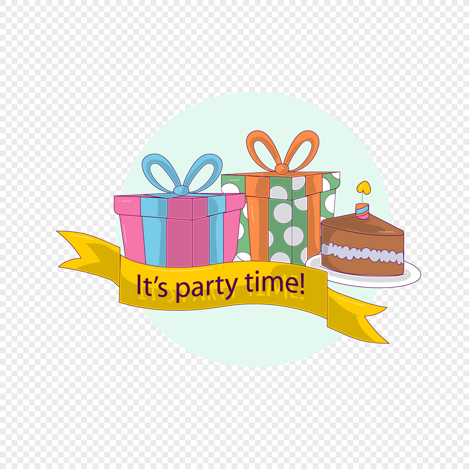 Gift Box Cake Happy Birthday Label Png Image Picture Free Download
