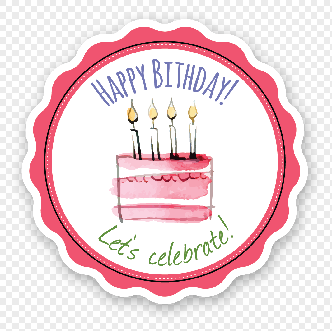 Happy Birthday Cake Label Png Imagepicture Free Download
