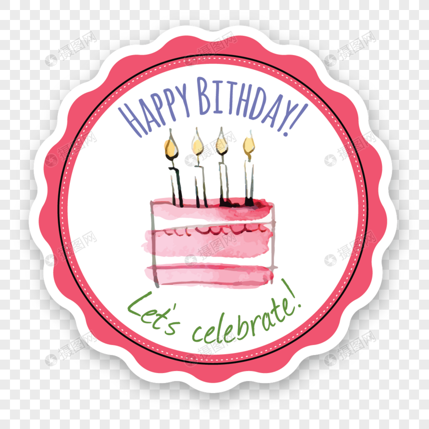 Awe Inspiring Happy Birthday Cake Label Image Picture Free Download Personalised Birthday Cards Bromeletsinfo