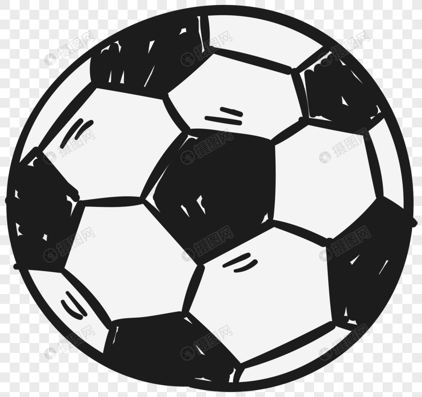 Elemen Vektor Kartun Sepak Bola Yang Digambar Tangan