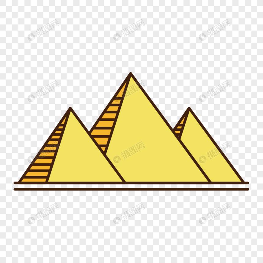Photo de mat riel de pyramide de dessin anim de vecteur - Dessin de pyramide ...