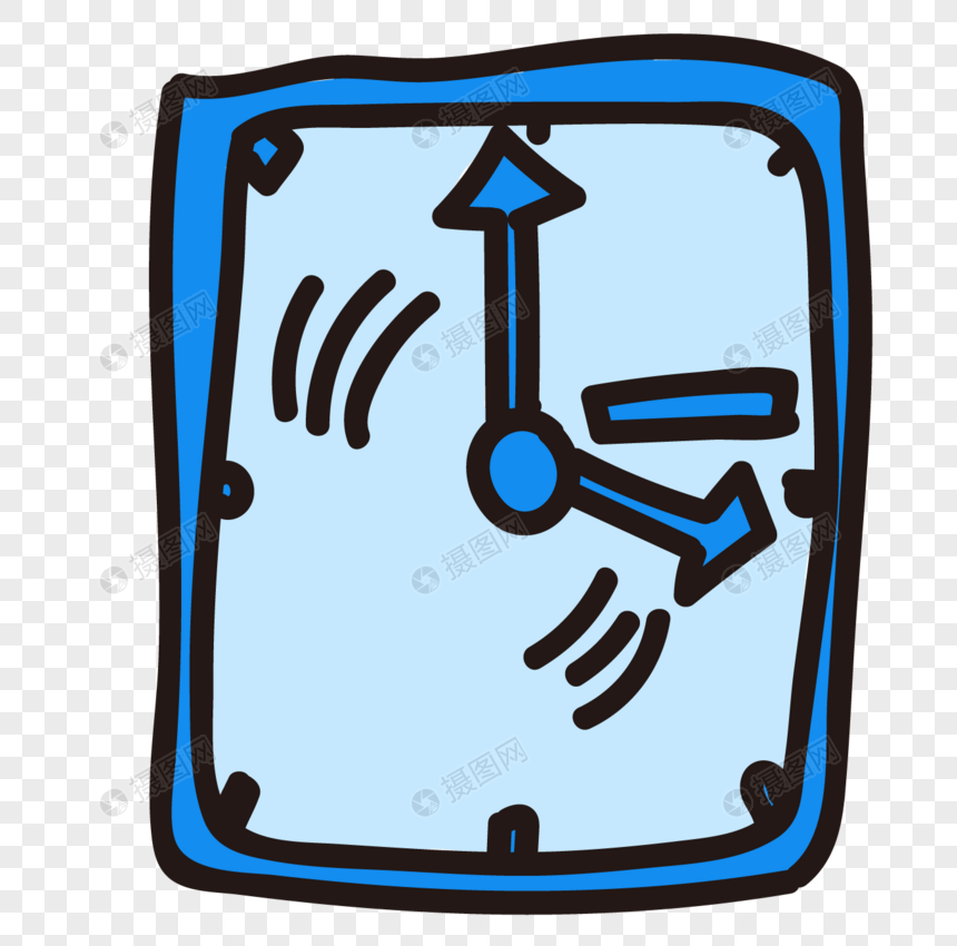 hand painted clock png