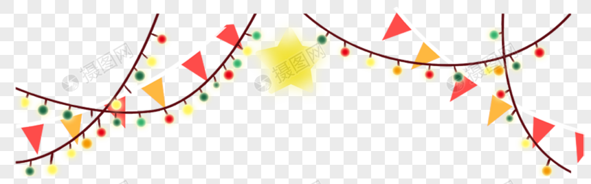 holiday decorations colorful flags lanterns png
