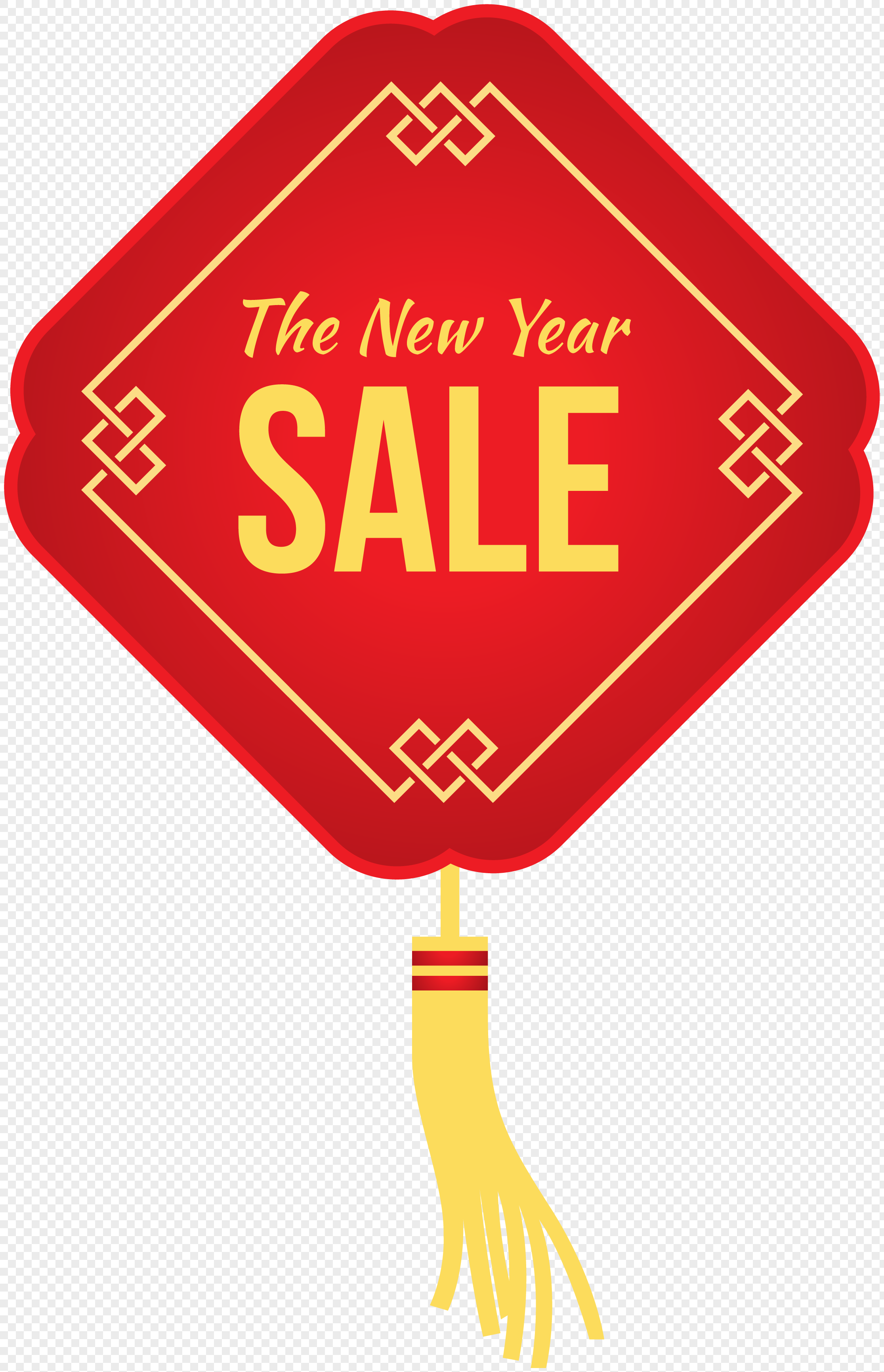 hand painted new year chinese knot promotion label