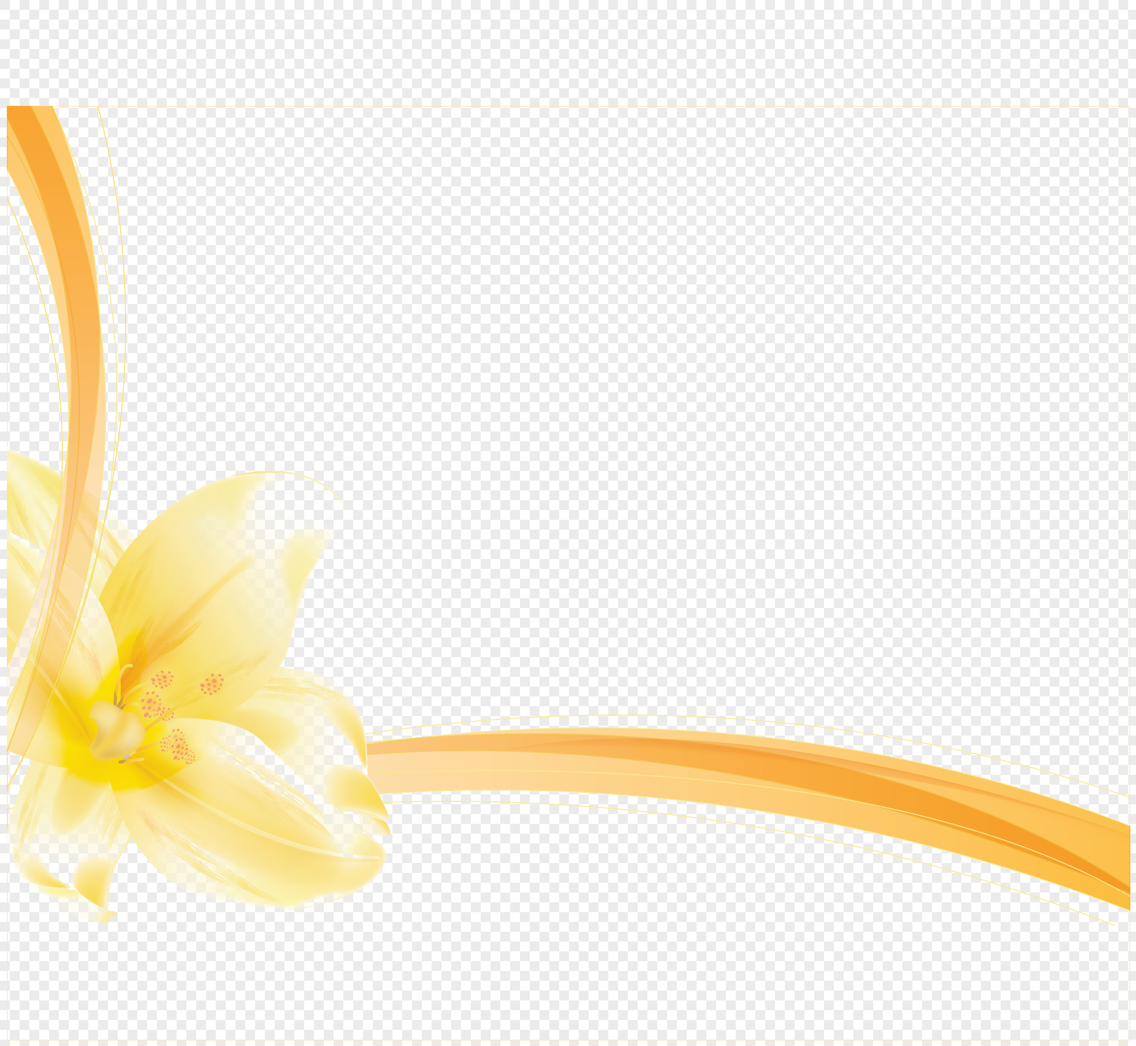 Yellow Flower Border Png Imagepicture Free Download