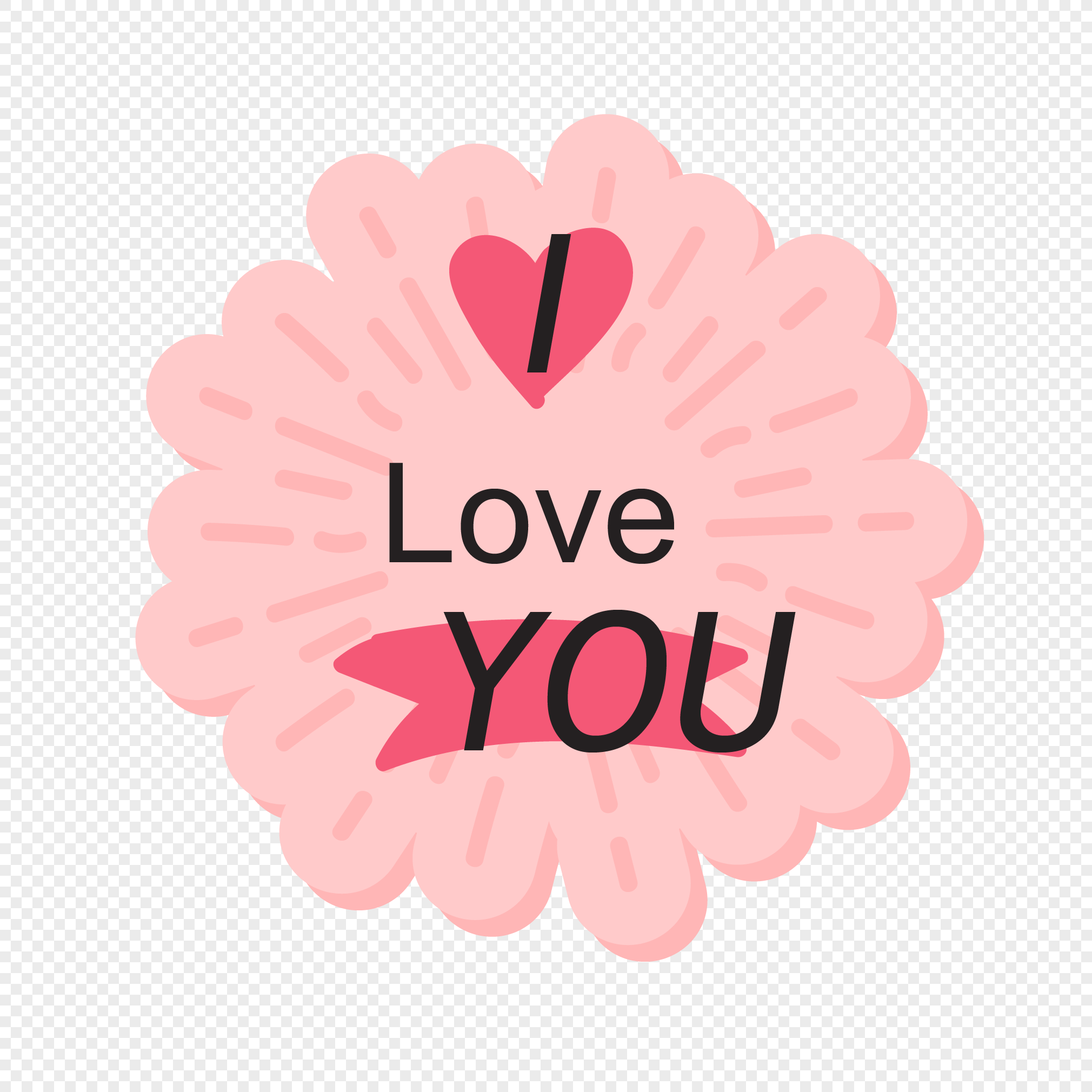 Aesthetic Love Valentines Day Tagging Vector Material Png